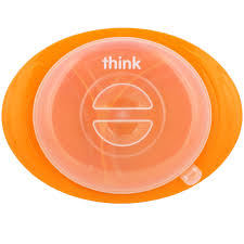 Small Pink <b>Thinkbaby Thinksaucer</b> Suction Plate