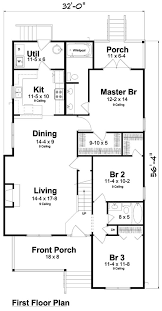 Creativity and Flexibility Define Narrow Lot House Plan StylesMain level floor plan for this narrow lot home