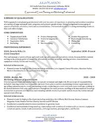 event planner resume event planner duties and responsibilities sample resume event planner event coordinator resume sample