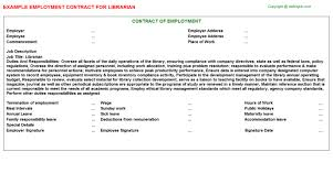 job titlelibrarian employment contract