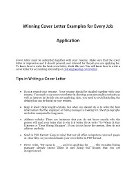 every job application s sample cover letter that works winning cover letter examples for every job application cover letter must be submitted together your
