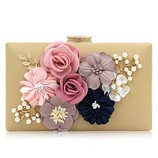 Milisente <b>Evening Bag</b> for <b>Women</b>, <b>Flower</b> Wedding <b>Evening Clutch</b> ...
