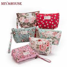 Miyahouse Lace Design <b>Cosmetic Bags Women</b> Daily Use Makeup ...