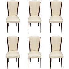 set of 6 french art deco walnut dining chairs circa 1940s art deco dining 6
