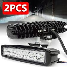 Car 6500K <b>6LED 18W work</b> light strip DRL driving fog spotlight