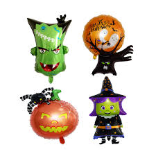 4pcs <b>Halloween Aluminum Foil</b> Balloons <b>Atmosphere</b> Cartoon ...