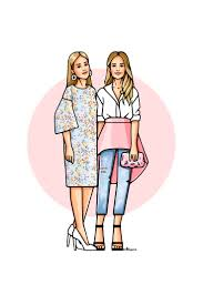 Портфолио - <b>Girls</b> In Bloom | Иллюстрации с девушками, Эскиз ...