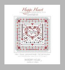 CROSS STITCH <b>KIT</b> Hygge Heart Sampler by <b>Riverdrift</b> House ...