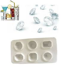 <b>Diamonds Gem Cool</b> Ice Cube Chocolate Soap Tray Silicone ...