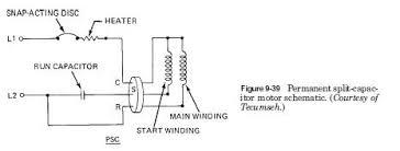 hermetic compressor motor types hvac troubleshooting permanent slip capacitor motor schematic hermetic compressor motor types