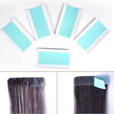 <b>60Pcs Set</b> Skin Weft Hair Extension <b>Adhesive Double Sided</b> Super
