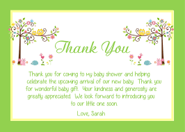 thank you note examples baby gift gifts how to write a nice thank you note for baby shower wall