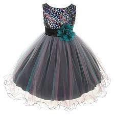 Flower Girls Dress Big Girls' Multi Sequin Beaded ... - Amazon.com