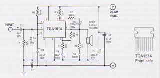 tda  watt audio amplifier circuittda  w audio amplifier schematic