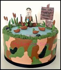 Decorated Birthday Cakes Duck Dynasty Themed Birthday Cake Camo Buttercream With Fondant