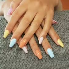 <b>Summer</b> pastels <b>CND shellac</b> - Hush Salon - Albir, Spain