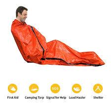 Orange Emergency Sleeping Bag Blanket Warm Emergency Jungle ...