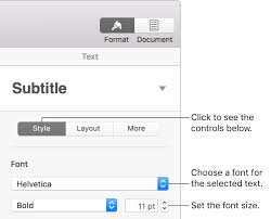 Change the font or font <b>size</b> in Pages on Mac - Apple Support