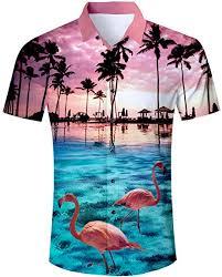 Uideazone Men Hawaiian Shirts Summer 3D Printed ... - Amazon.com