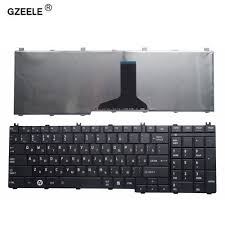 GZEELE <b>russian laptop Keyboard for</b> toshiba Satellite C650 C655 ...