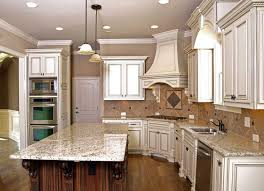 kitchen cabinets with granite countertops: luxury kitchen with granite topped island
