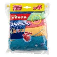<b>Салфетка</b> для уборки микрофибра <b>Vileda Colors</b> 4 шт купить в ...