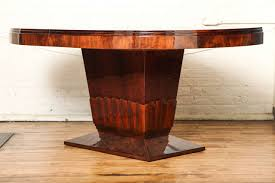 oval dining table art deco: oval art deco dining table