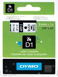 <b>Dymo S0720680 D1</b> 40913 Tape 9mm x 7m Black on White | Help ...