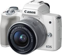 Купить фотоаппарат Canon EOS M50 15-45 IS <b>STM</b> white в ...