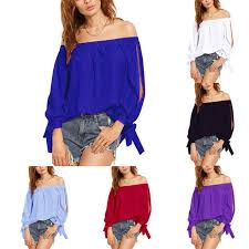 Buy New 2019 Summer <b>Fashion Sexy Off</b> The Shoulder Tops For ...