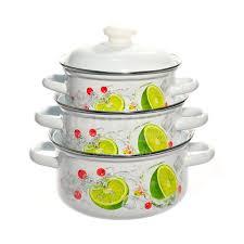 <b>Набор эмалированной посуды</b> ЛЗЭП Лайм 124/4АП2, (кастрюля ...