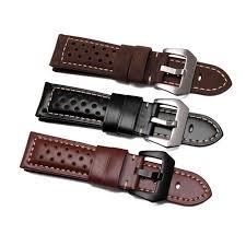 CARLYWET 18 20 <b>22 24 26mm</b> Black Waterproof Nylon Leather ...