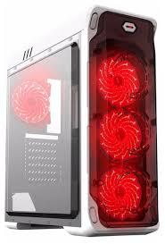 Компьютерный <b>корпус GameMax StarLight</b> White/<b>red</b> — купить по ...