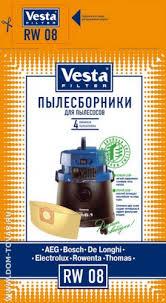 Купить <b>Мешки для пылесоса Vesta</b> RW08./Пылесборники и ...