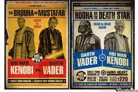 Obi Wan Kenobi Vs Darth Vader by luca772011 - Meme Center via Relatably.com