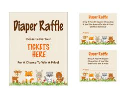 woodland diaper raffle ticket printable diaper raffle sign 🔎zoom