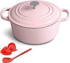 M-cooker 4.5 Quart Enameled <b>Cast</b> Iron Pot with Self Basting Lid ...