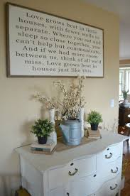dining room wall decorating ideas: love grows best in little houses sign in farmhouse dining room farmhouse dining room wall decor ideasquotes