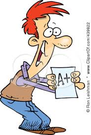 Image result for cartoon student taking test