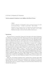 (PDF) Sesleria autumnalis (Gramineae) a new addition to the Flora ...