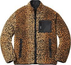 Supreme FW17 Leopard Fleece <b>Reversible Jacket</b> SMALL BLACK ...