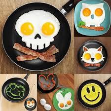 <b>Creative Cartoon Cute</b> Silicone Egg Mold Non-stick Skull/Rabbit/Owl ...