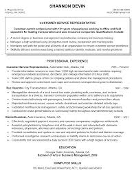 Service Manager And Education In Electronics Resume Examples  Resume Template Example For Customer Sevice Representative With Professional Experience As