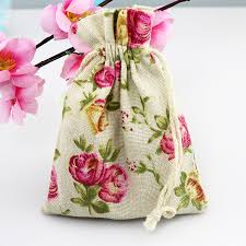 <b>10pcs</b>/lot Small <b>Cotton</b> Bags 10x14cm Decorative Drawstring Gift ...