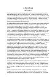 higher reflective essay x higher english a grade folio essays creative reflective  gymnastics