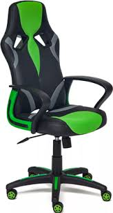 <b>Кресло Tetchair RUNNER</b> (<b>кож/зам/ткань</b>, черный/зеленый, 36-6 ...
