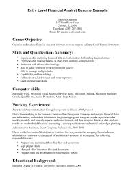 Resume Template. Good Career Objectives For Resume: resume-for ... ... Entry Level Financial Analyst Resume Example For Career Objective With Computer Skills And ...