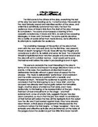 a man for all seasons essay   gcse english   marked by teachers compage  zoom in