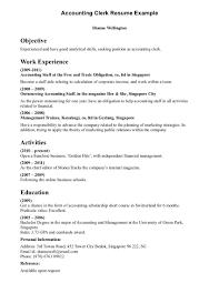clerk resume objective template clerk resume objective