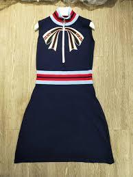 <b>Hot</b> New Designer Dark Blue Stand <b>Collar Sleeveless</b> Knitting ...